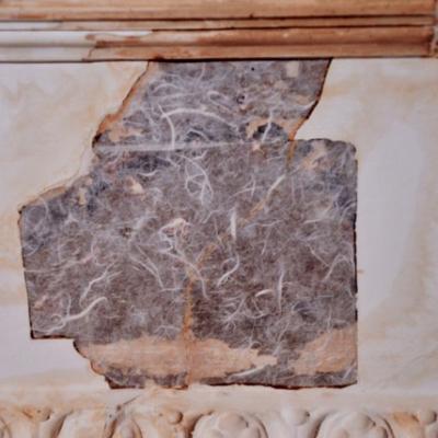 Hameln, Anwaltshaus, Konservierung der Dekorationsmalerei im Stuckfries
