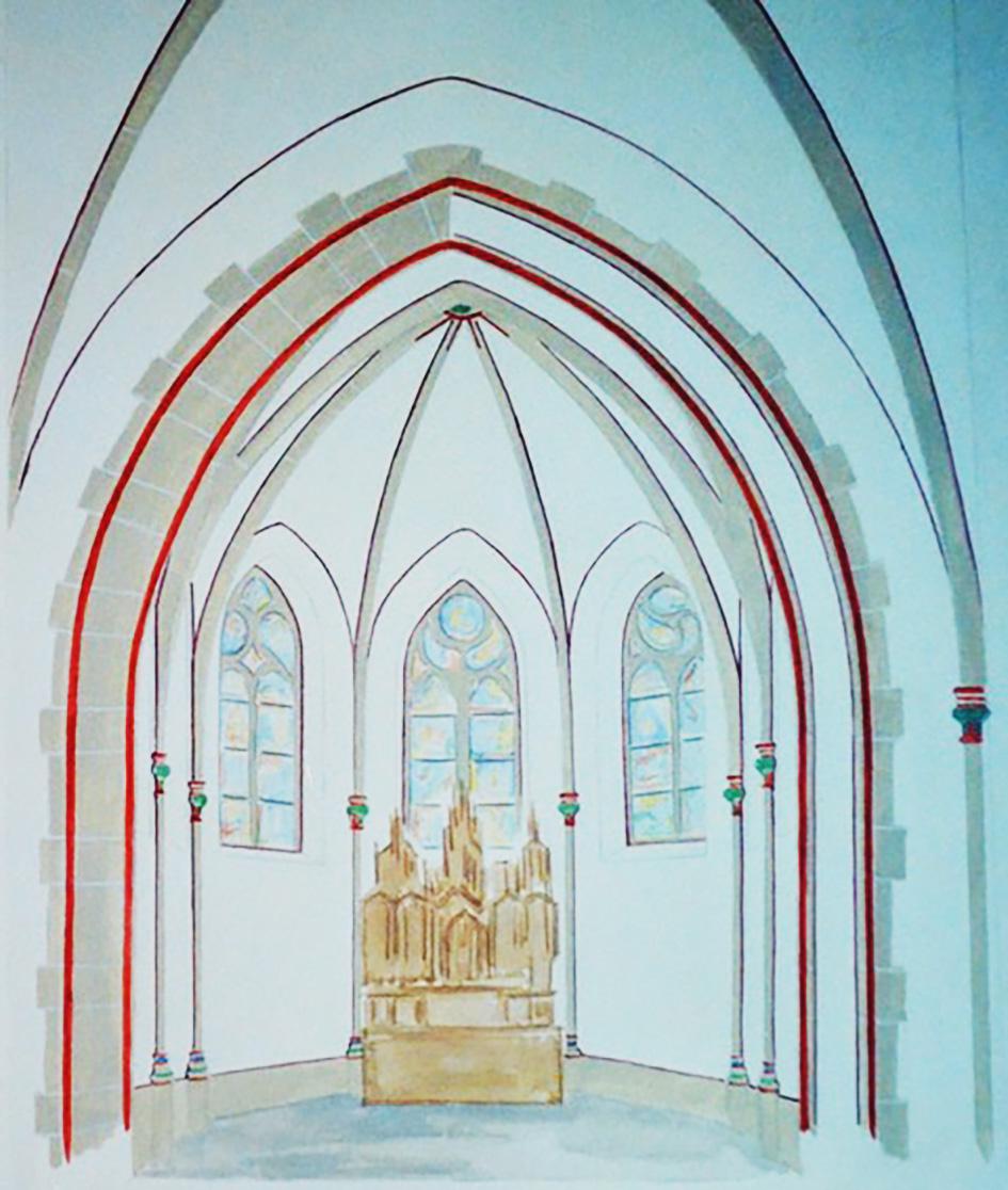 Neugestaltung Raumschale nach historischem Befund Bassam Klosterstift
