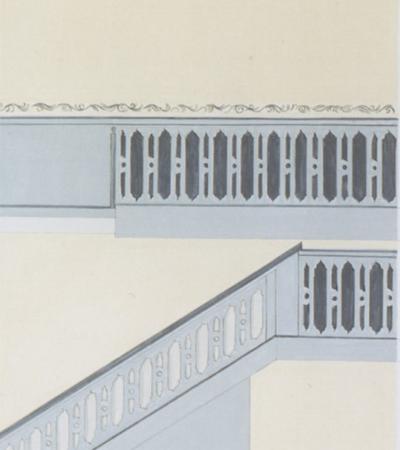 Rekonstruiertes Treppenhaus Klosterstift Bassum